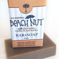 All Natural, Handmade, Beach Nut Soap by Amish Country Essentials. 3.5oz