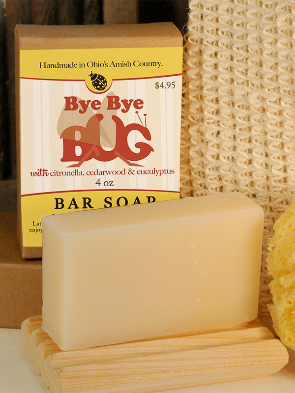 All Natural, Handmade, Bye Bye Bug Soap by Amish Country Essentials. 3.5oz