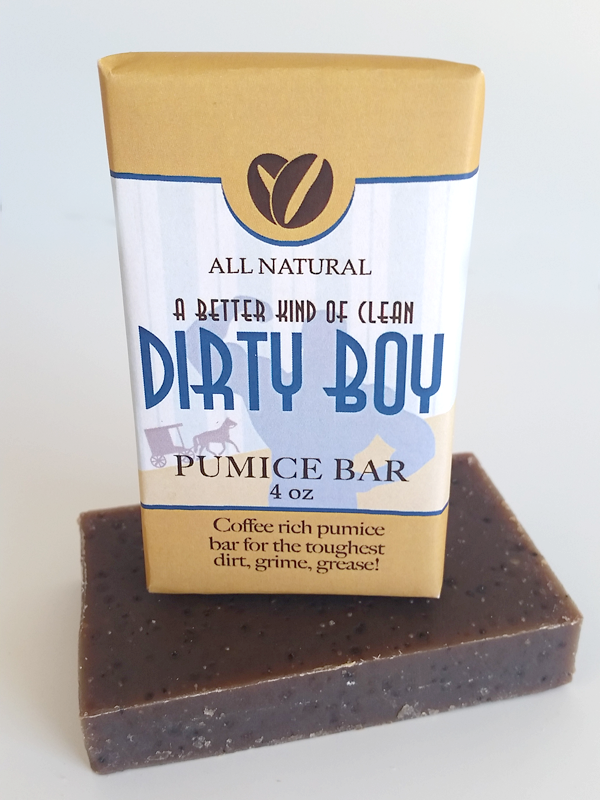 All Natural, Handmade, Dirty Boy Soap by Amish Country Essentials. 3.5oz
