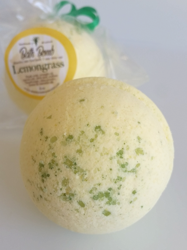 All Natural, Handmade, LemonGrass Bath Bomb, by Amish Country Essentials