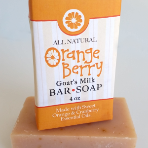 All Natural, Handmade Orangeberry Goats Milk Soap by Amish Country Essentials