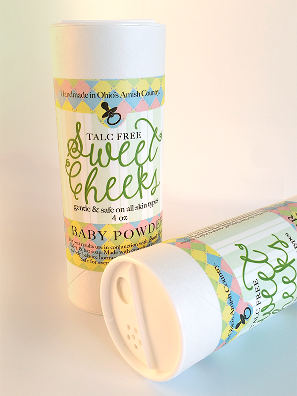All Natural, Handmade Sweet Cheeks Baby Powder, by Amish Country Essentials