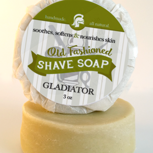 All Natural, Handmade, Gladiator Shave Soap by Amish Country Essentials. 3.5oz
