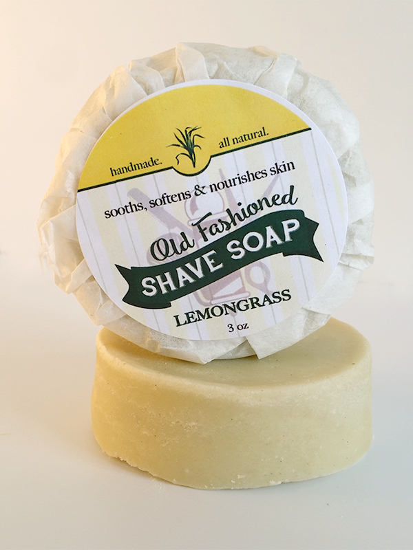 All Natural, Handmade, Lemongrass Shave Soap by Amish Country Essentials. 3oz