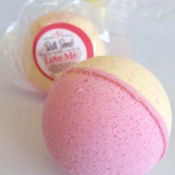 All Natural, Handmade, Love Me Bath Bomb, By Amish Country Essentials