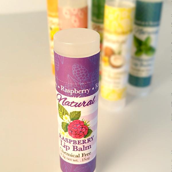 All Natural Raspberry Lip Balm