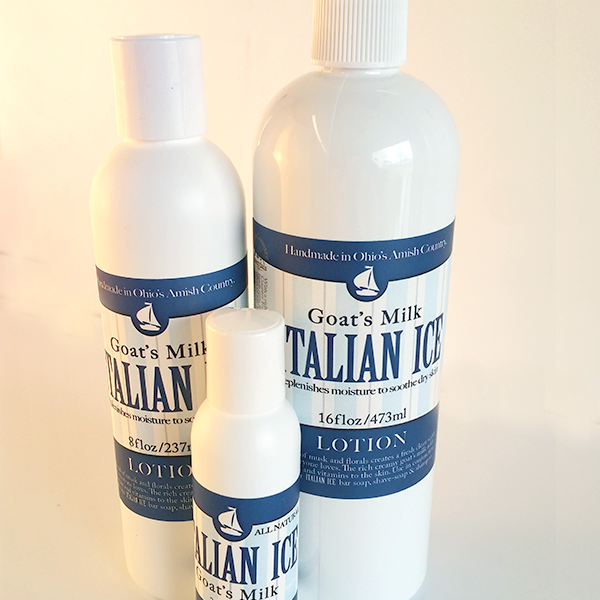 All Natural Italian Ice Goats Milk Lotion