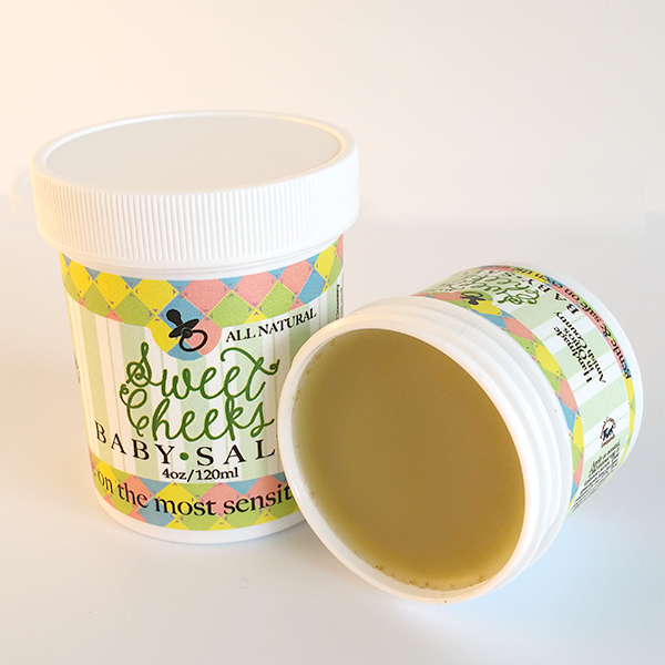 All Natural, Handmade, Sweet Cheeks Baby Salve by Amish Country Essentials. 4oz