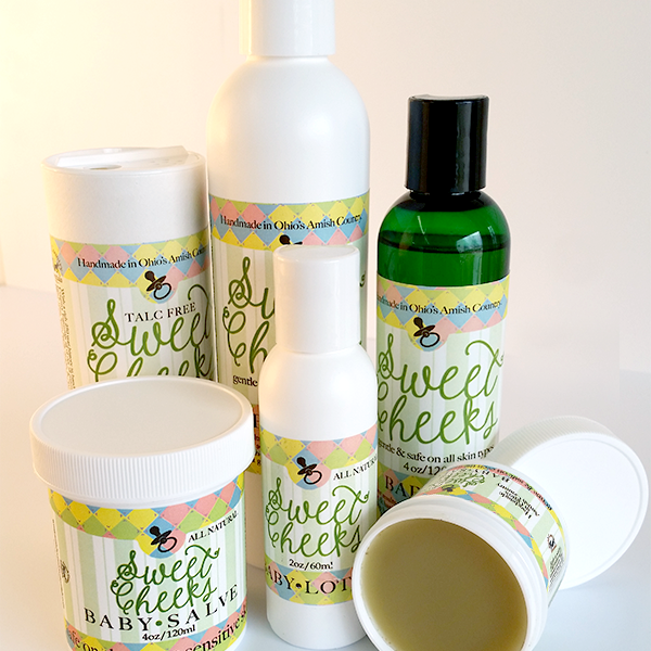 All Natural, Handmade, Sweet Cheeks Baby Line by Amish Country Essentials