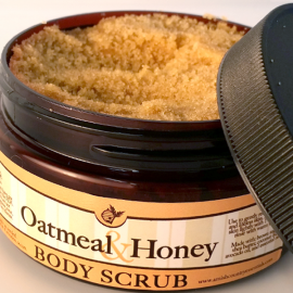All Natural, Handmade, Oatmeal and Honey Body Scrub by Amish Country Essentials