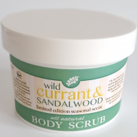 All Natural, Handmade, wild currant and sandalwood scrub by Amish Country Essentials