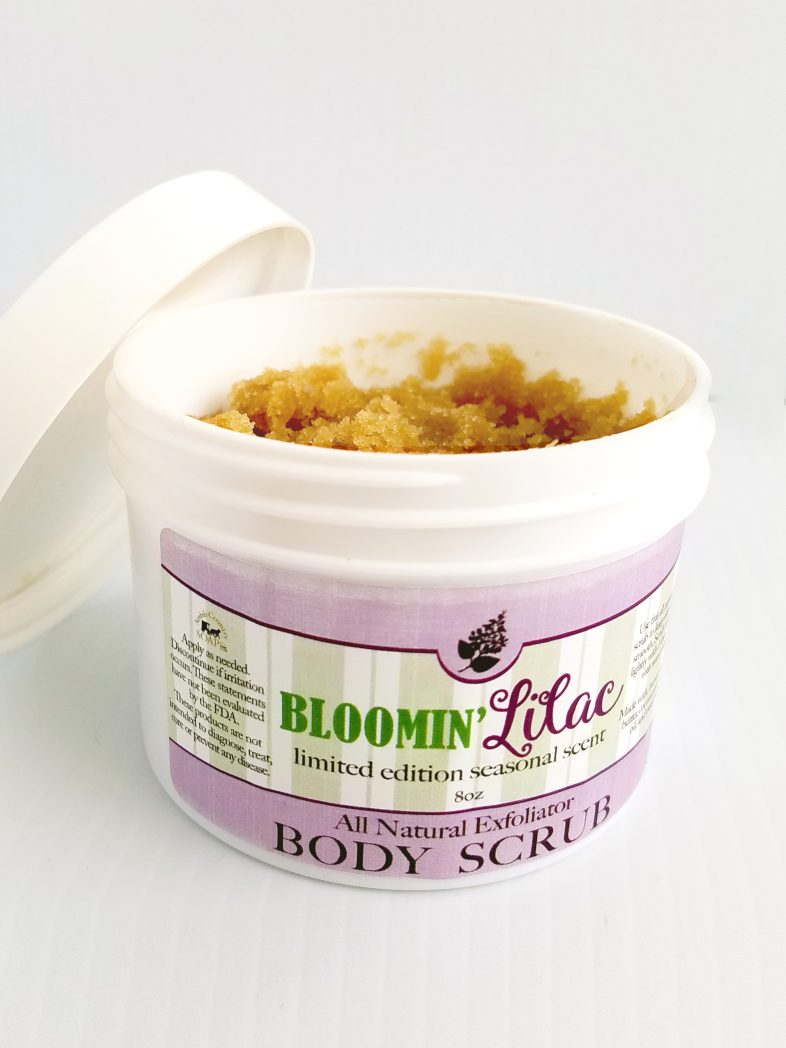 All Natural, Handmade, Bloomin Lilac scrub by Amish Country Soap Co