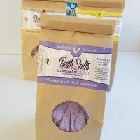 All Natural, Handmade, Lavender Petals, Bath Salts, Soak by Amish Country Essentials
