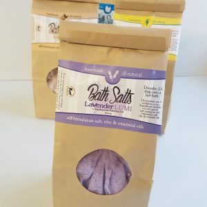 All Natural, Handmade, Lavender Petals, Bath Salts, Soak by Amish Country Essentials
