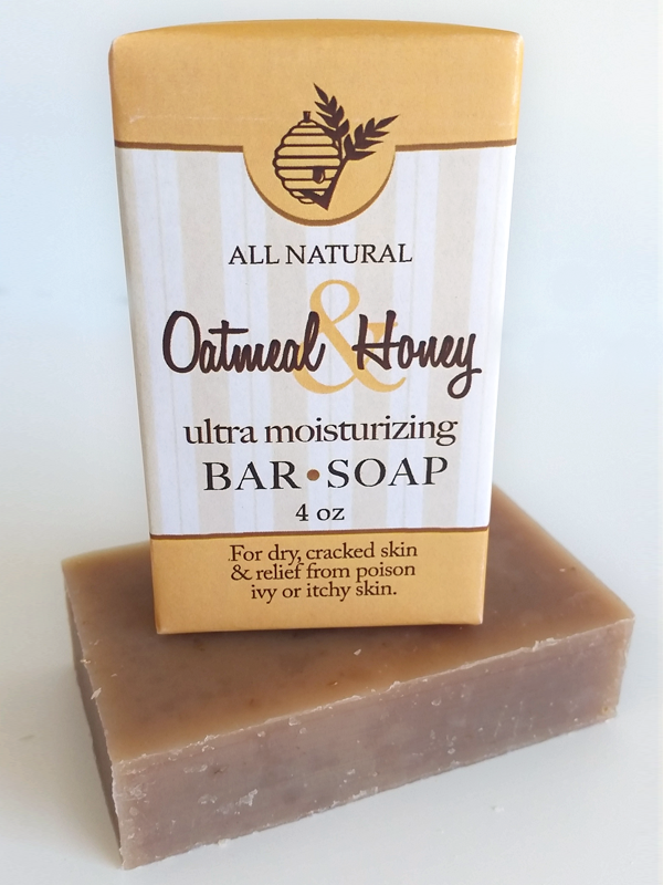 All Natural, Handmade, Oatmeal & Honey Soap by Amish Country Essentials. 3.5oz