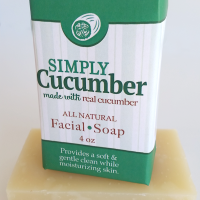 All Natural, Handmade, Simply Cucumber Soap by Amish Country Essentials. 3.5oz