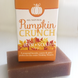 All Natural, Handmade, Pumpkin Crunch Soap by Amish Country Essentials. 3.5oz