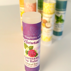 All Natural Raspberry Lip Balm