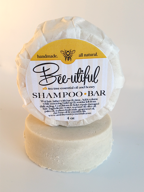 All Natural, Handmade, Bee-Utiful Shampoo Bar by Amish Country Essentials